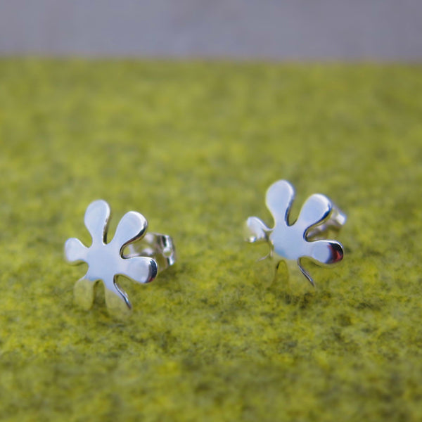 Petite Flower Power Silver Earrings - Post - Handmade Silver Jewelry San Francisco Wholesale