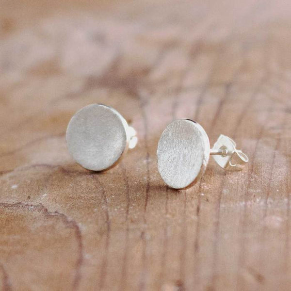 MATTE SILVER EARRINGS