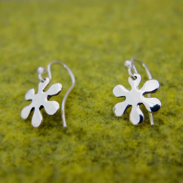 Petite Flower Power Silver Earrings - French Wire - Handmade Silver Jewelry San Francisco Wholesale