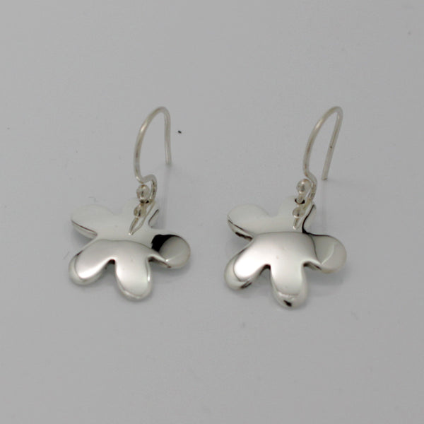 Silver Daisy Earrings - French Wire - Handmade Silver Jewelry San Francisco Wholesale