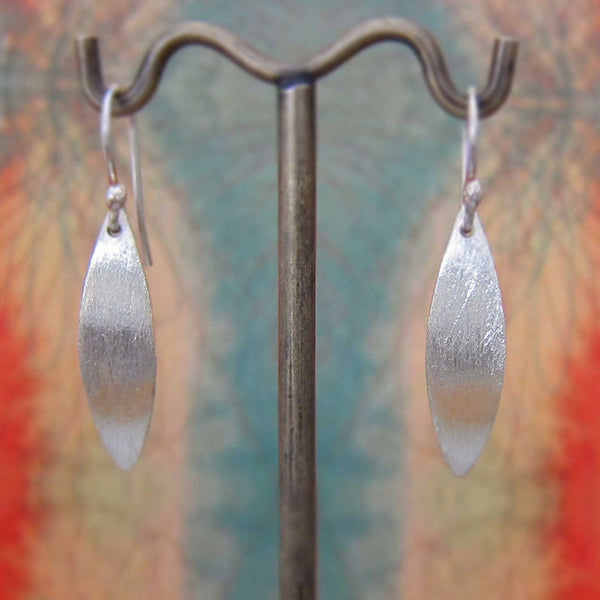 Margarita Petal Matte Silver Earrings - French Wire - Handmade Silver Jewelry San Francisco Wholesale