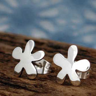 Petite Daisy Silver Earrings - Post - Handmade Silver Jewelry San Francisco Wholesale