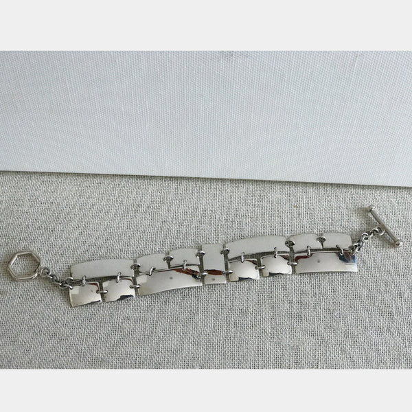 Puzzle Silver Bracelet - High Polished Silver