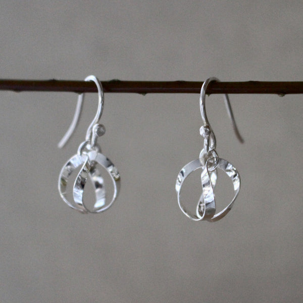 Petite Dangling Globo Silver Earrings - Handmade Silver Jewelry San Francisco Wholesale