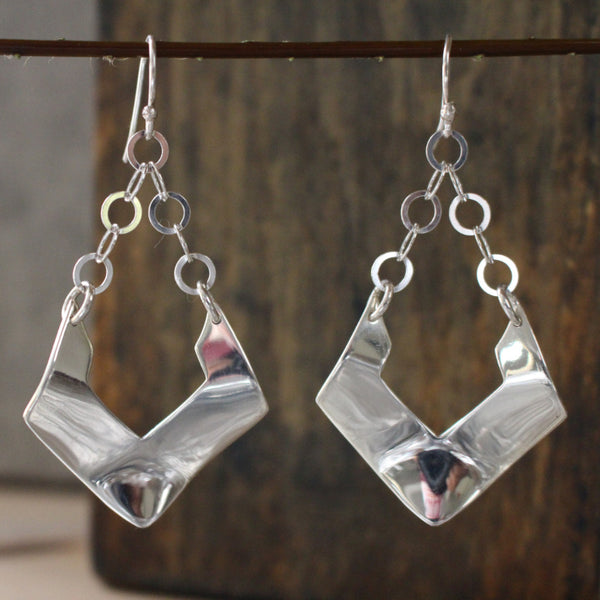 Greta Silver Earrings - French Wire - Handmade Silver Jewelry San Francisco Wholesale
