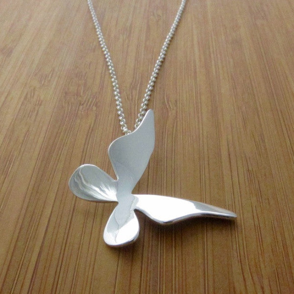 Baby Queen Butterfly Silver Pendant - Handmade Silver Jewelry San Francisco Wholesale