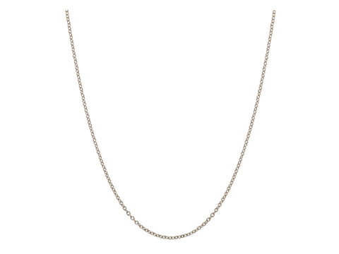 Chain: 1.5mm White Gold