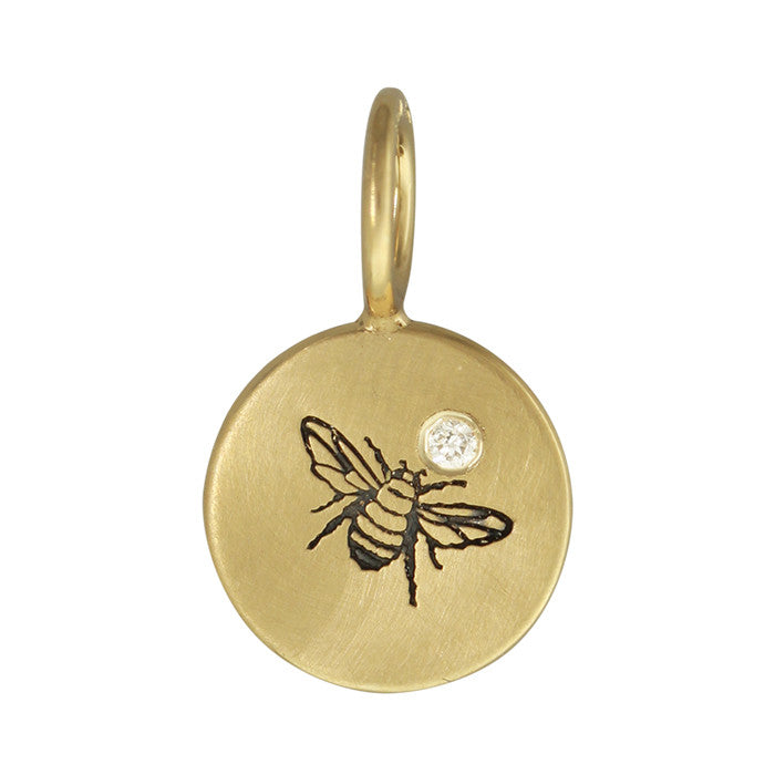 Bee Diamond Charm