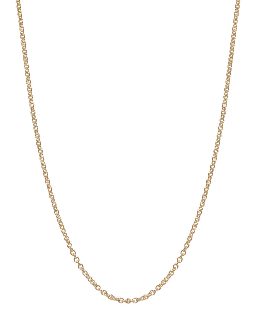 Chain: 2mm Yellow Gold