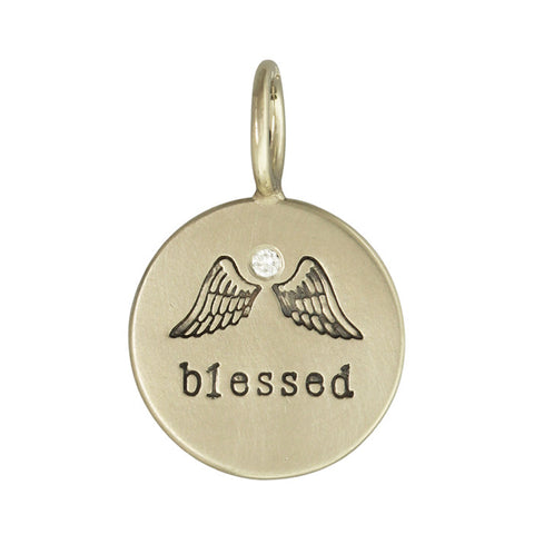 Blessed Wings Diamond Charm