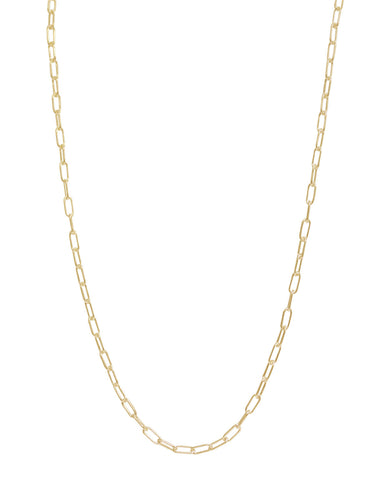 Chain: 3mm Long Link Yellow Gold