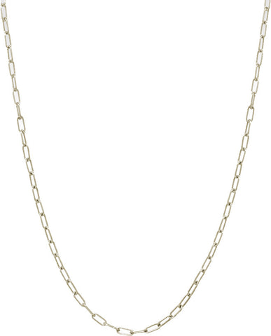 Chain: 3mm Long Link White Gold
