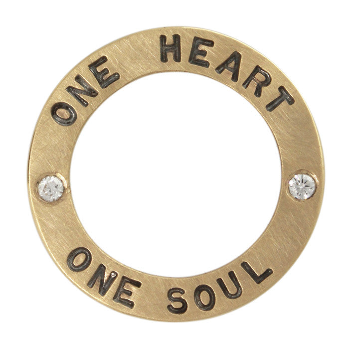 One Heart Open Circle Charm