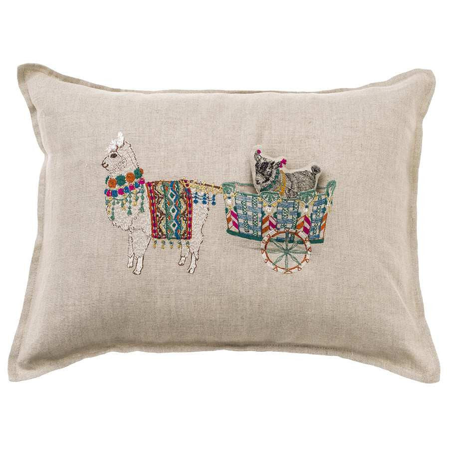 Pillow 12x16: Alpaca Cart Pocket