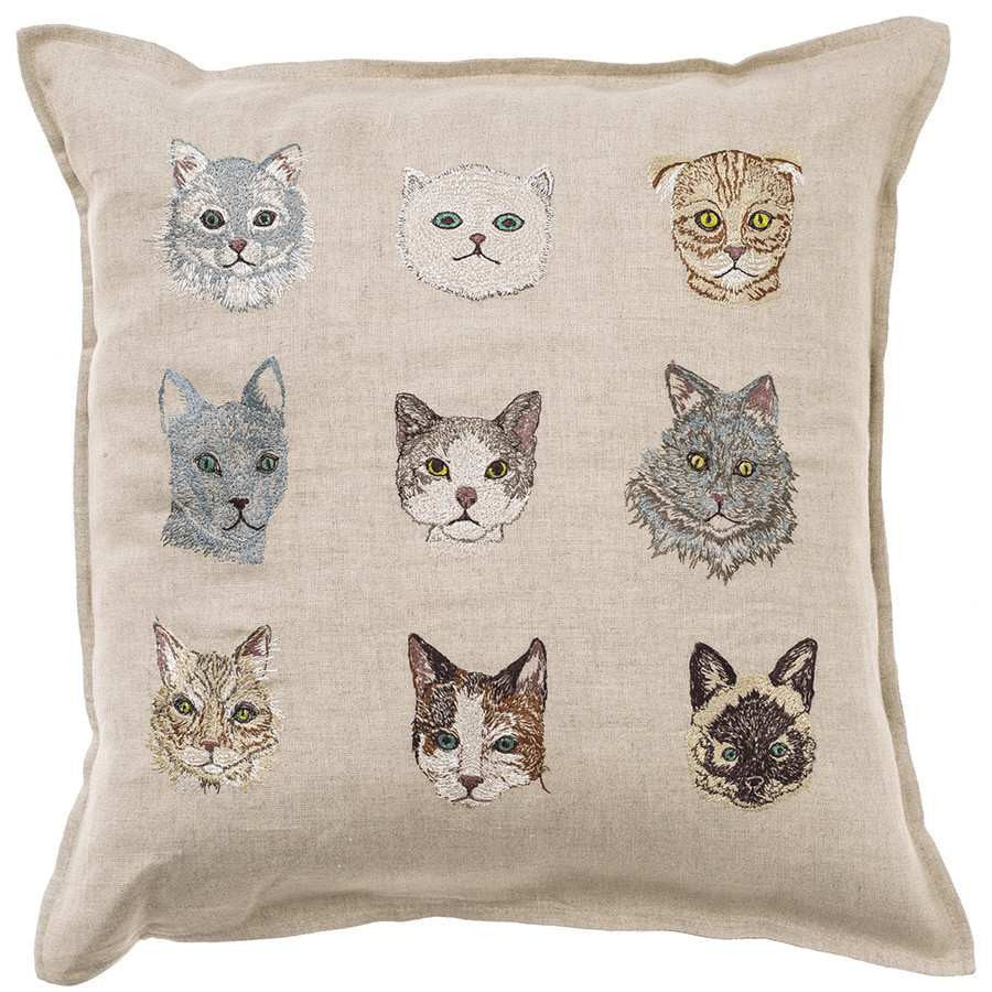 Pillow 16x16: Cats