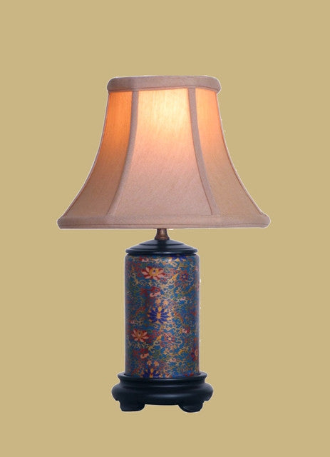 Mini Porcelain Gold Cloisonne Lamp
