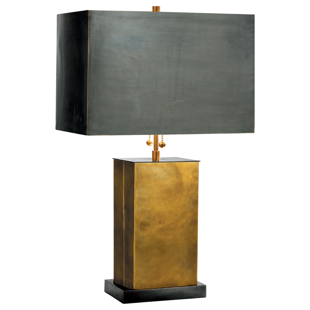 Dixon Small Table Lamp - Antique Brass with Bronze