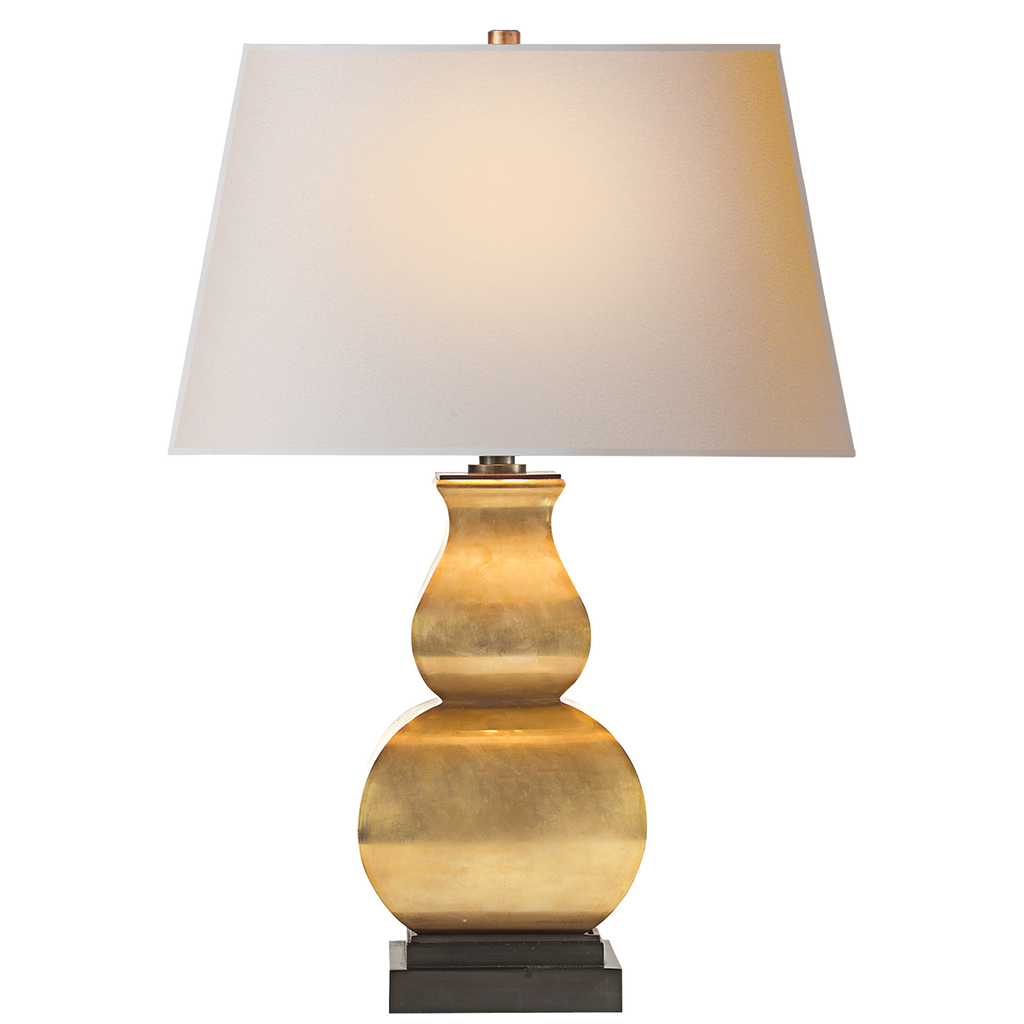 Fang Gourd Table Lamp - Antique-Burnished Brass