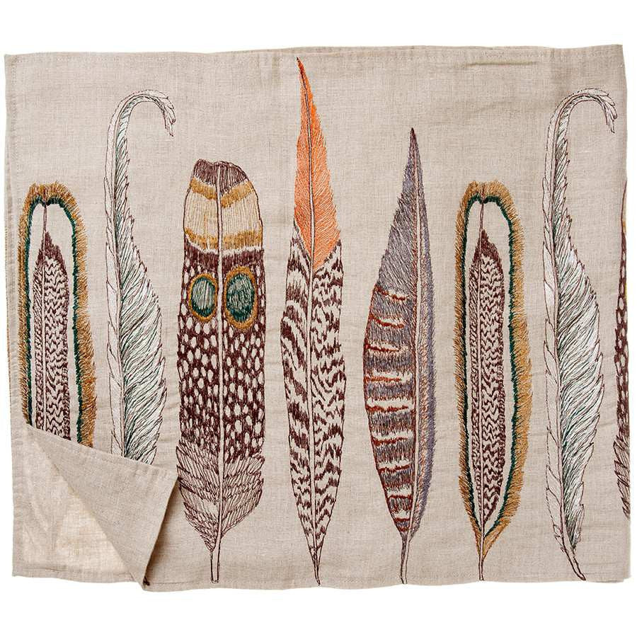 Tablerunner - Large Feathers