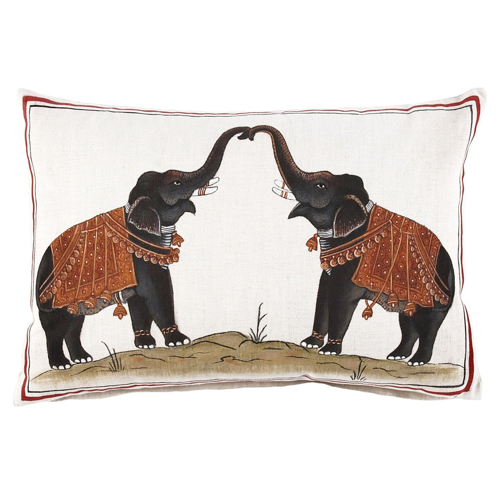 Two Elephants Pillow