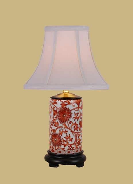 Mini Orange Flower Lamp