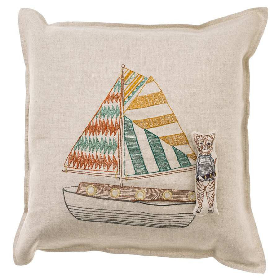Pillow 16x16: Sailboat Pocket