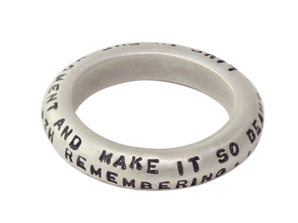 Quote Scroll Ring