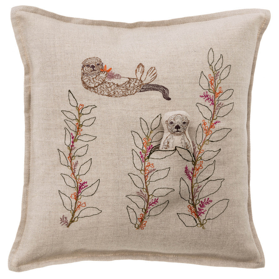 Pillow 12x12: Sea Otter Pocket