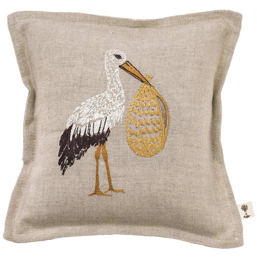 Tooth Fairy Keepsake Pillow: Stork