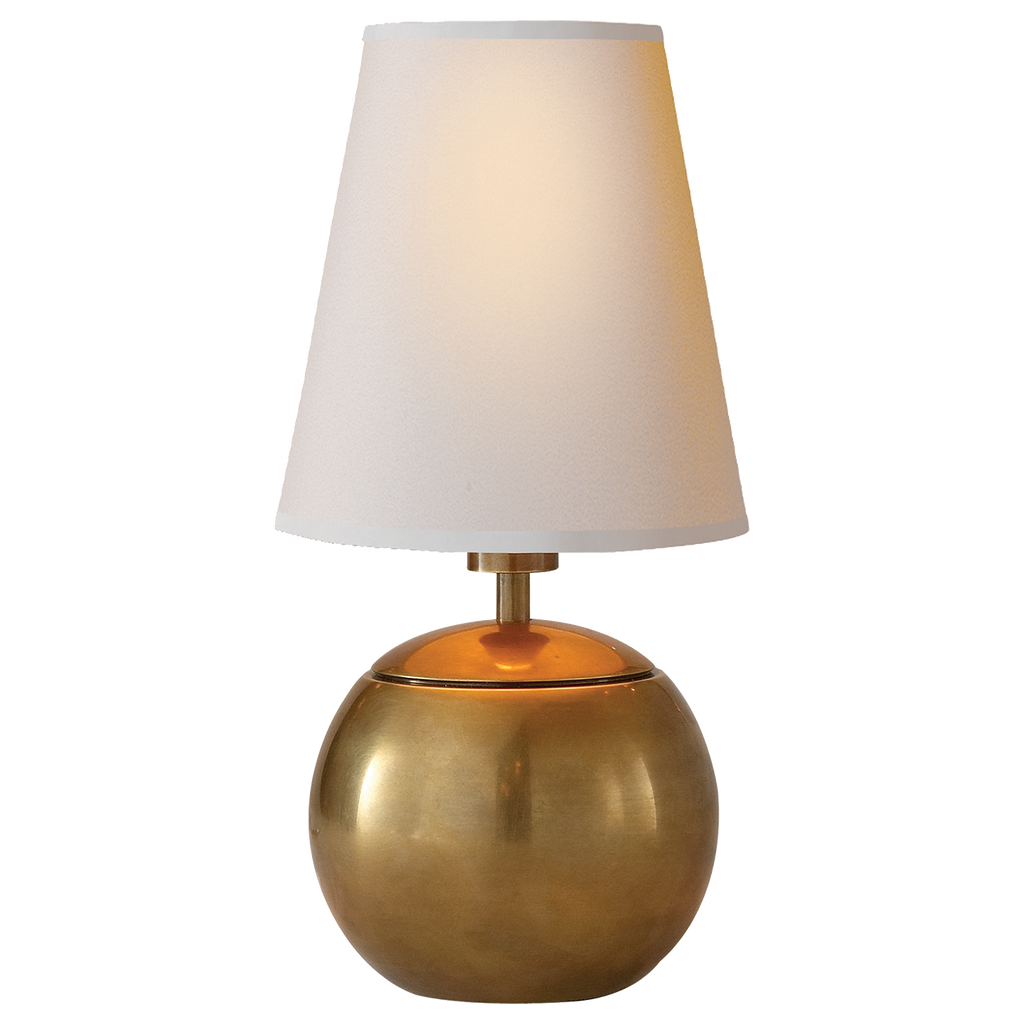 Terri Tiny Round Accent Lamp - Hand-Rubbed Antique Brass