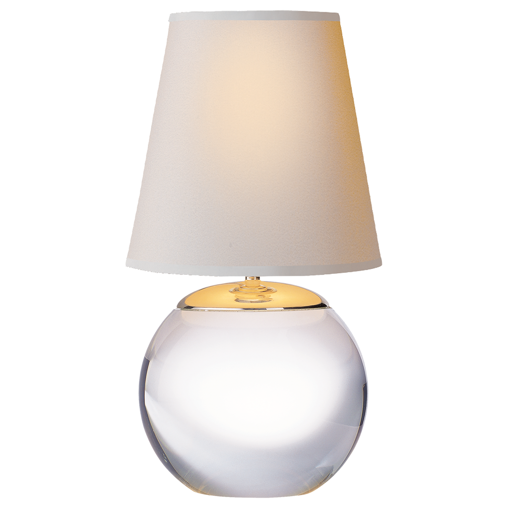 Terri Tiny Round Accent Lamp - Crystal
