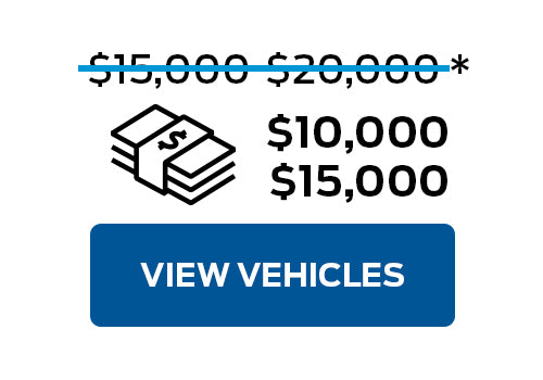 Pre-Owned Vehicles from $10,000 to $15,000