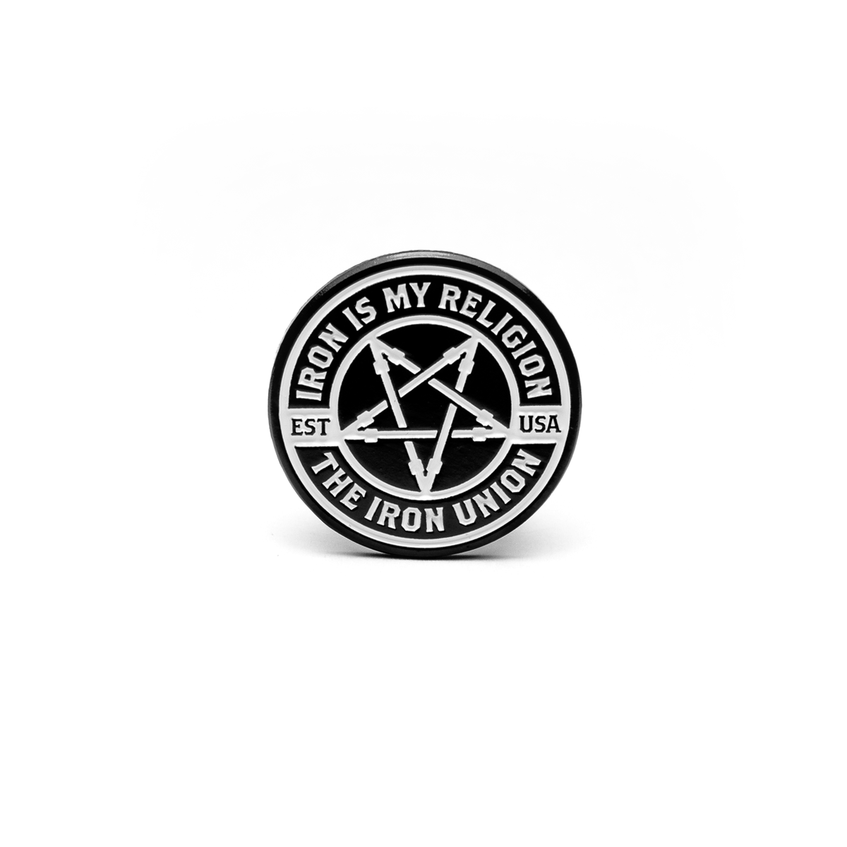 007. Iron Badge Pin - THE IRON UNION