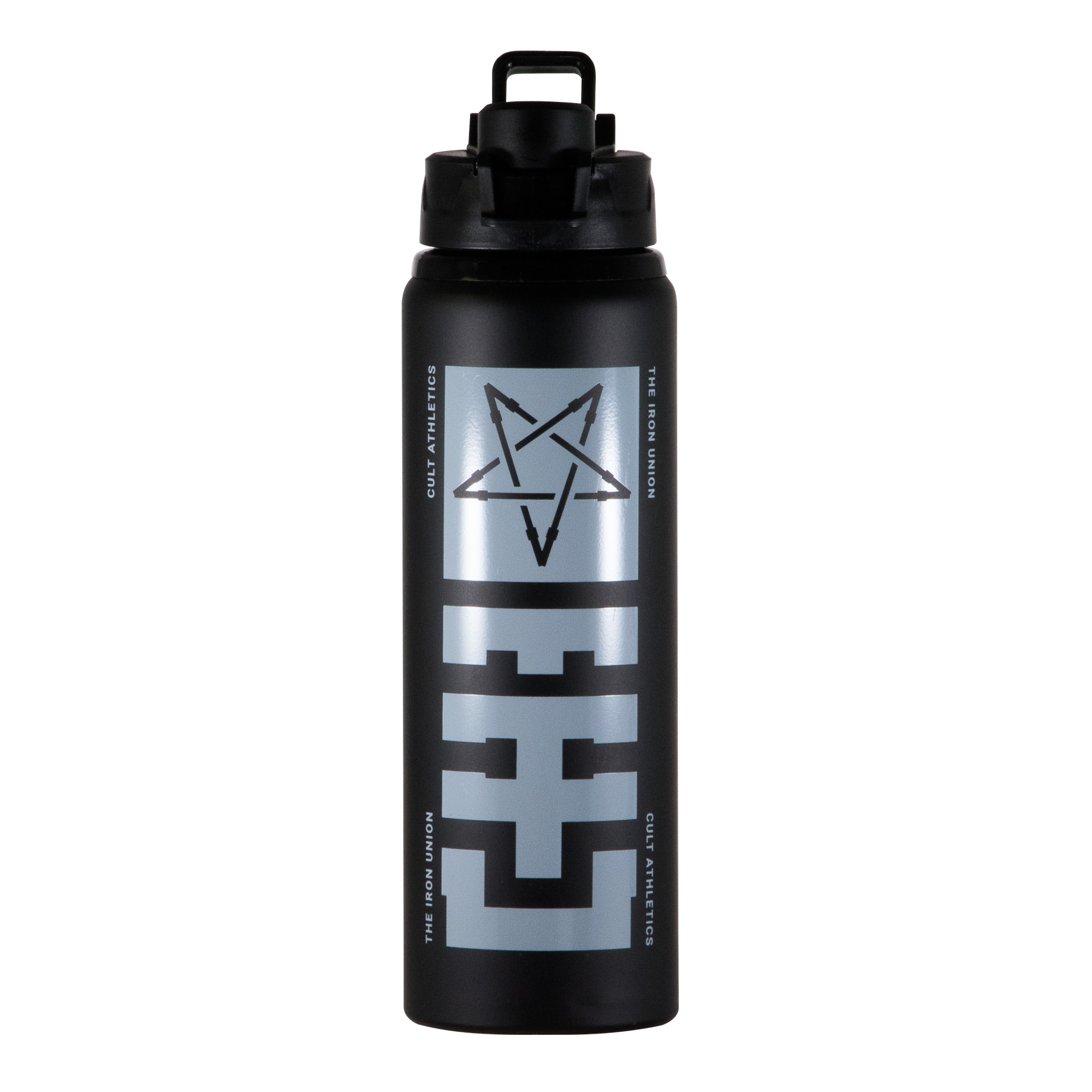 013. 28oz. Matte Black Metal Sport Bottle