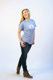 Women's Blue Drop T-shirt
