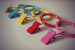 GNTS Decor Curtain Ring Clips – Colourful Curtain Ring Clips Collection