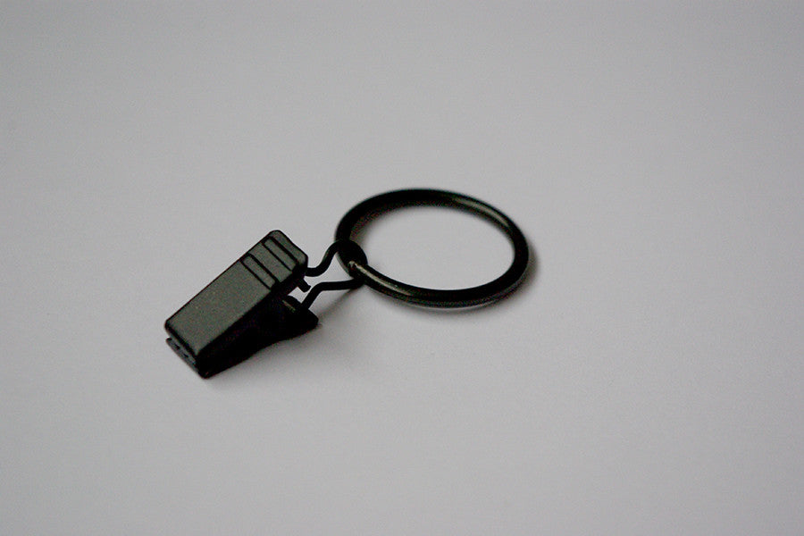 Black Curtain Ring Clips (Pack of 10)
