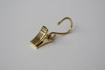 Shiny Gold Curtain Hook Clips Ø16mm (Pack of 10)