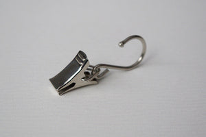 Shiny Silver Curtain Hook Clips Ø16mm (Pack of 10) - GNTS Decor