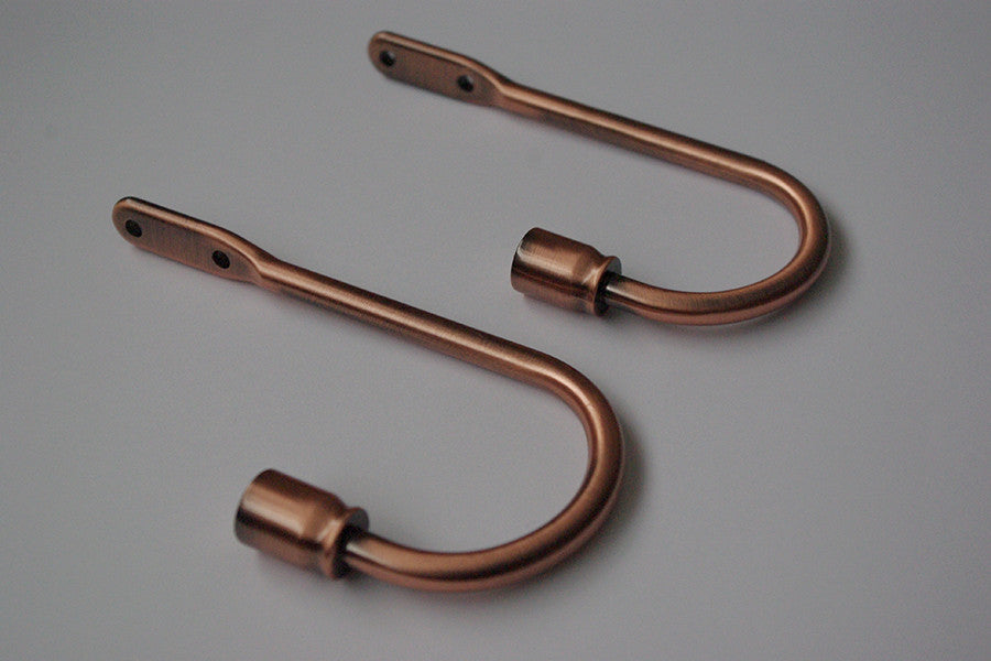 Classic Curtain Holdbacks - Copper 150mm (Pack of 2)