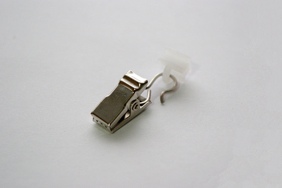 Shiny Silver Curtain Clips for Tracks (Pack of 10)