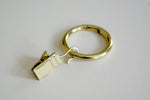 Shiny Gold Curtain Ring Clips Ø30mm (Pack of 10)