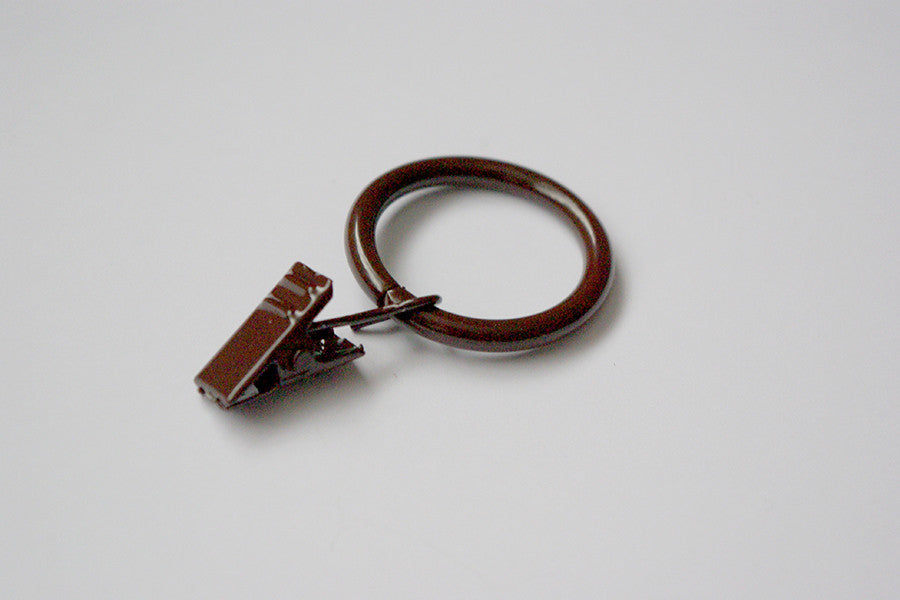Brown Curtain Ring Clips Ø30mm (Pack of 10)