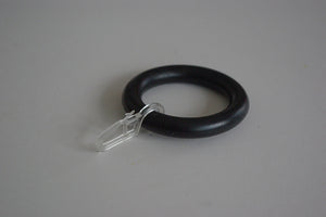 Black Curtain Ring Clips Ø55mm/Ø30mm (Pack of 10) - GNTS Decor