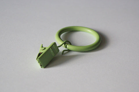 Green Curtain Ring Clips Ø30mm (Pack of 10) - GNTS Decor
