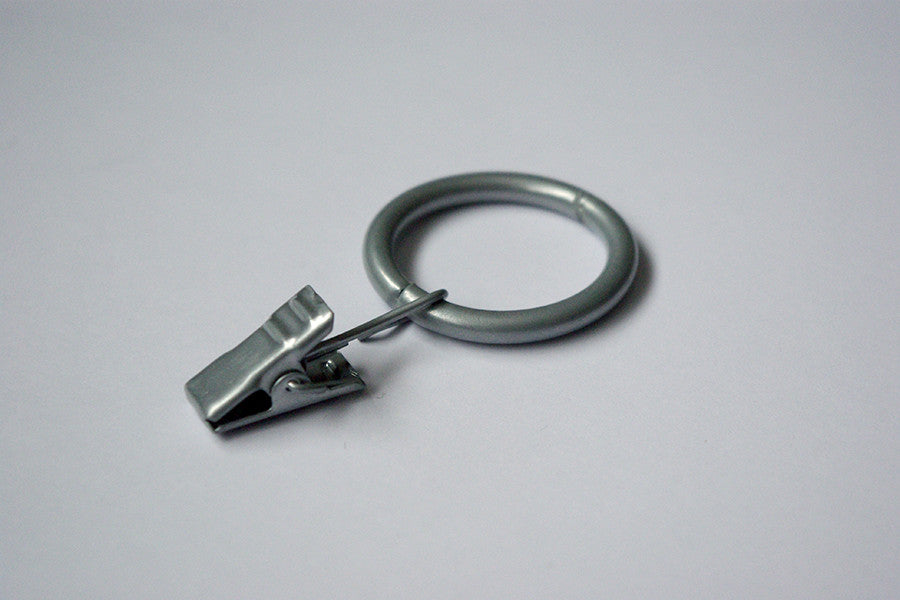 Grey Curtain Ring Clips Ø30mm (Pack of 10) - GNTS Decor