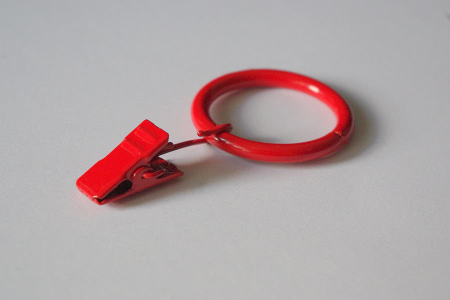 Red Curtain Ring Clips Ø30mm (Pack of 10) - GNTS Decor
