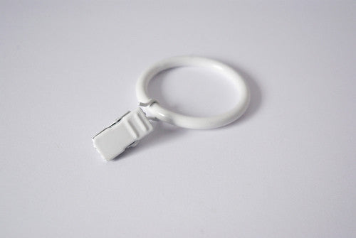 White Curtain Ring Clips (Pack of 10)