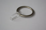 Antique Silver/Chrome Curtain Ring Hooks Ø30mm (Pack of 10)