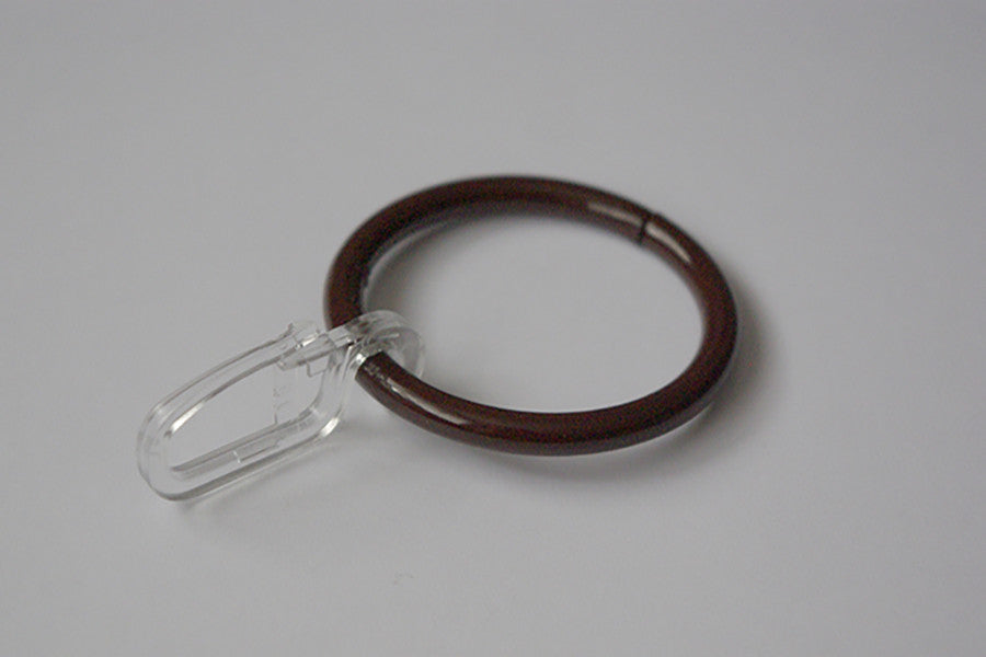 Brown Curtain Ring Hooks Ø40mm (Pack of 10)